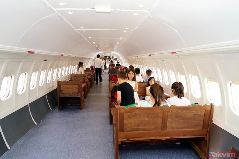 Kastamonuda Boeing 737 tipi yolcu uçağı Millet Kıraathanesi oldu