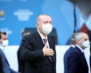 """Başkan Recep Tayyip Erdoğan: """"Allah ömür verdikçe, bu can bu bedende durdukça Türkiye'ye hizmet etmeye devam edeceğiz"""""""