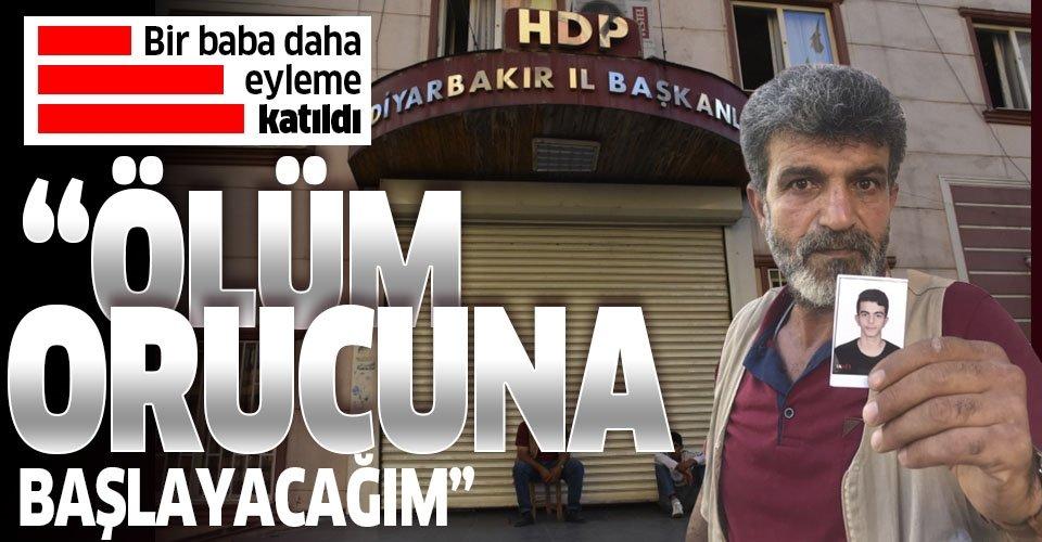 HDP'nin Diyarbakır İl Binası önünde başlayan eyleme bir baba da katıldı!
