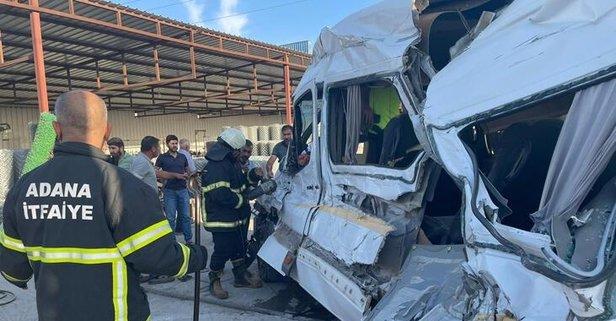 Adana'da trafik kazası: 4 kişi yaralandı