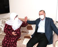 Başkan Erdoğan, Mahruze Keleş'i ziyaret etti