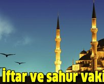 İstanbul, İzmir ve Ankara iftar vakti!