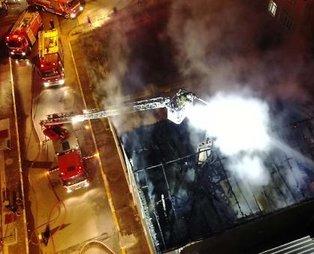 Sultanbeyli'de korkutan yangın: Mahalleli sokağa döküldü