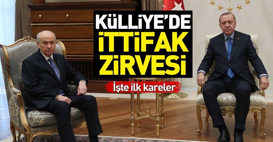 Erdoğan - Bahçeli görüşmesi başladı