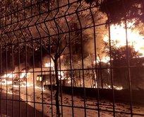 İstanbul'da korkutan yangın! Peş peşe patlamalar...
