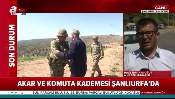 Son dakika haberi: Bakan Akar ve komutanlar Şanlıurfa'da