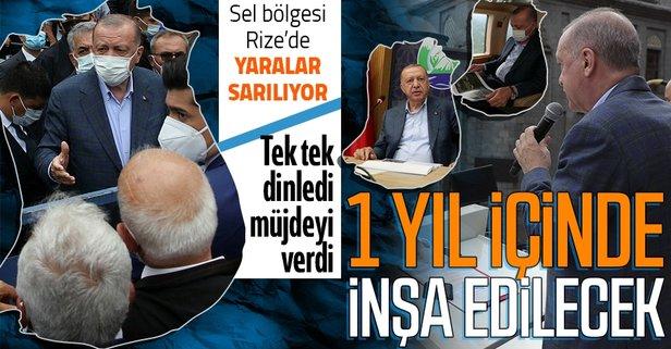 Başkan Erdoğan sel bölgesinde