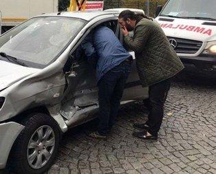 Her şeyden habersiz kazaya yardım etmek istedi