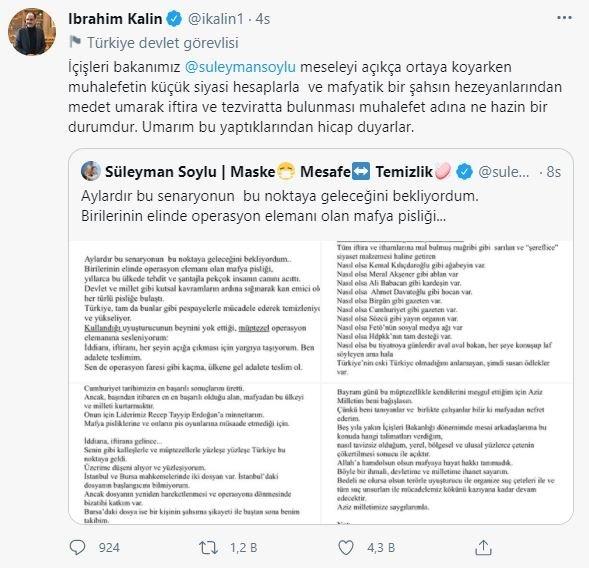 Sanayi ve Teknoloji Bakanı Mustafa Varank'tan mafya lideri Sedat Peker tepkisi: Fuat Avni'den medet uman muhalefet... 13